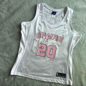 Reebok Tops - San Antonio Spurs Manu Ginobili  20 Glitter Jersey ac8dc93ac